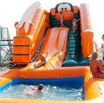 Надувная горка с бассейном NGB-06